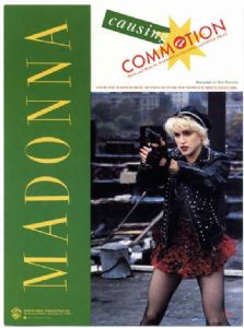 CAUSING A COMMOTION - USA 1987 SHEET MUSIC